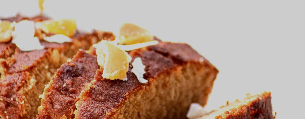 Moreish gluten-free banana cake