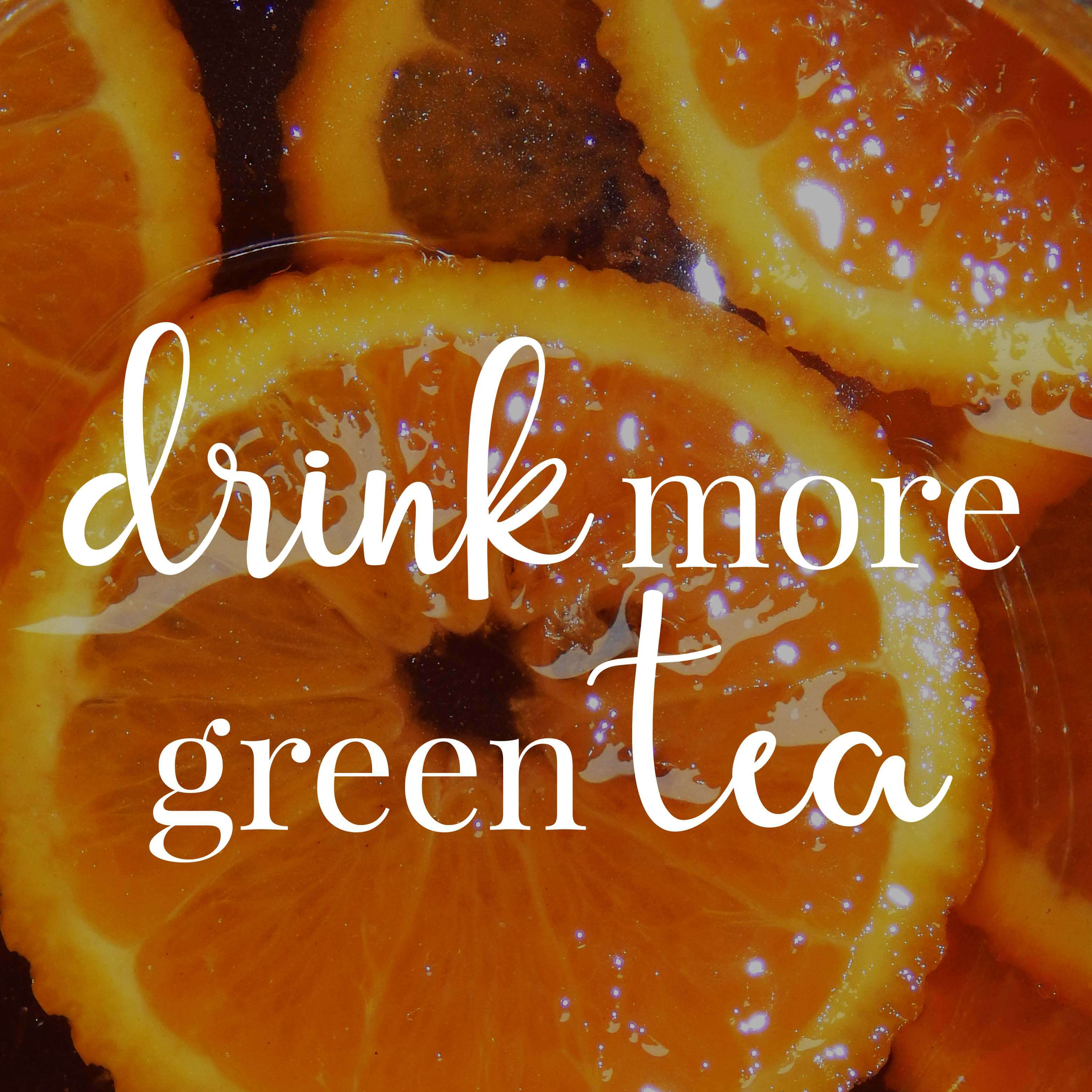 Homemade healthy iced tea with green tea and rooibos