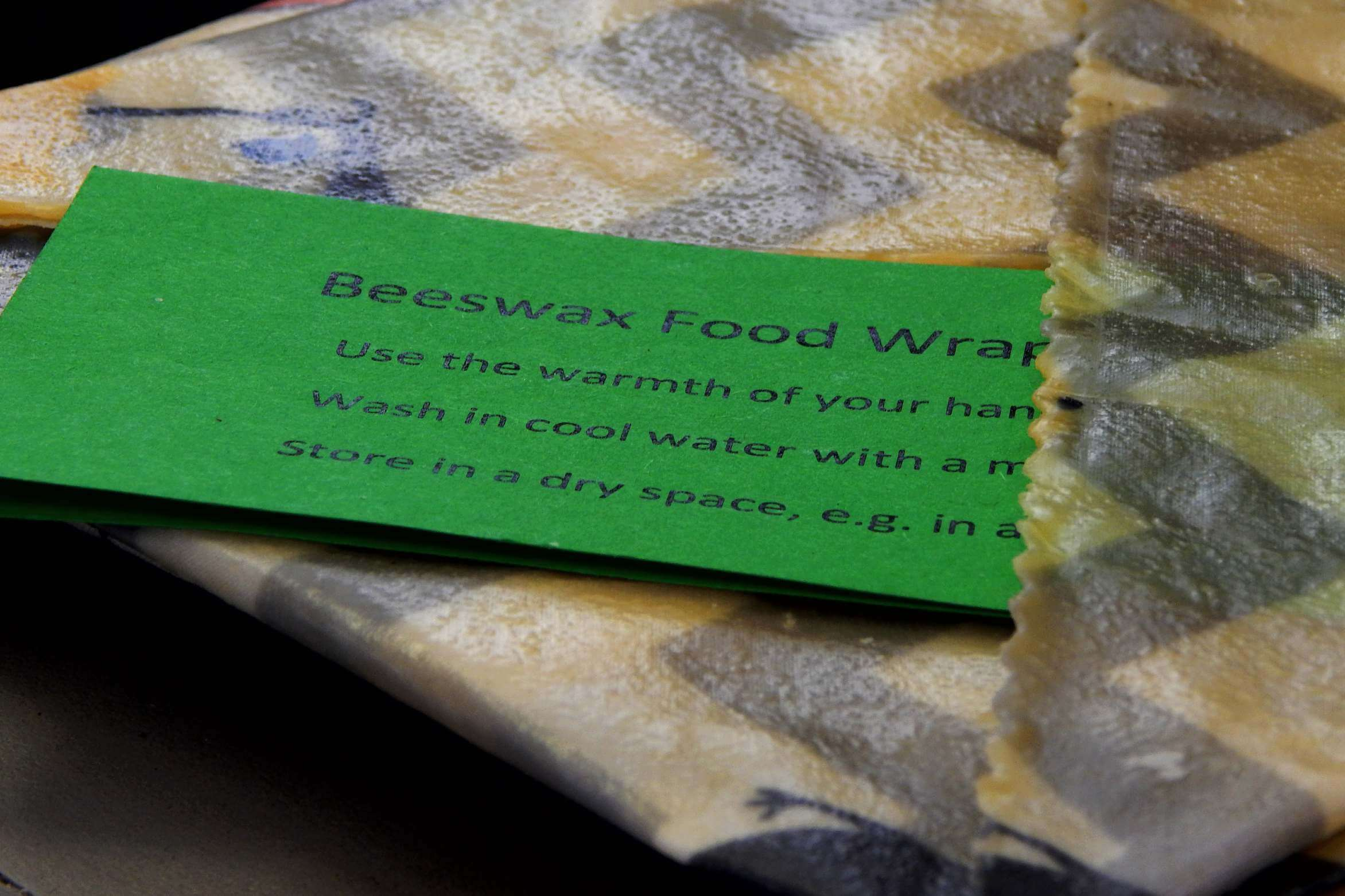 Beeswax wraps and label