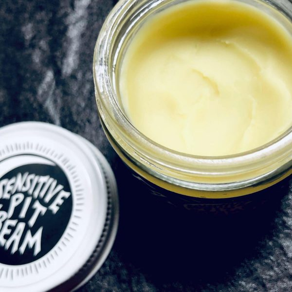 Open jar of creamy, smooth deodorant